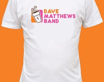 Screen Printed Dave Matthews Band 'Dunkin' Dave' T-shirt Ships Free