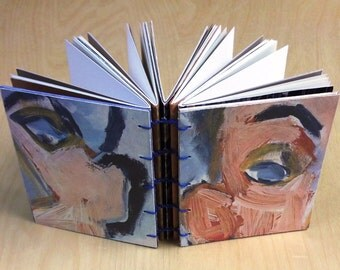 Mixed Paper Art Journal, Bob Dylan Self Portrait, pocket size