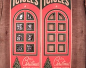 SALE 2 Red Green Boxes Vintage Doubl-Glo 36 inch Icicles Tinsel