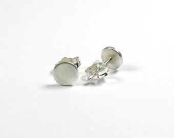 Stud Earrings 8 mm, 925 Silver
