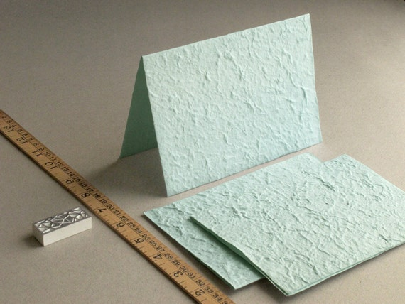 BLANK 5x7 mint green mulberry paper for card making (Pack of 20)