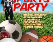 Sports Party Printable Invitation  - with Photo