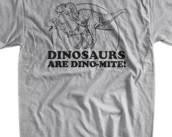 Funny Dinosaur T-Shirt - Dino-Mite Geek Science School Nerd Dinosaur Mens Ladies Womens Youth Kids