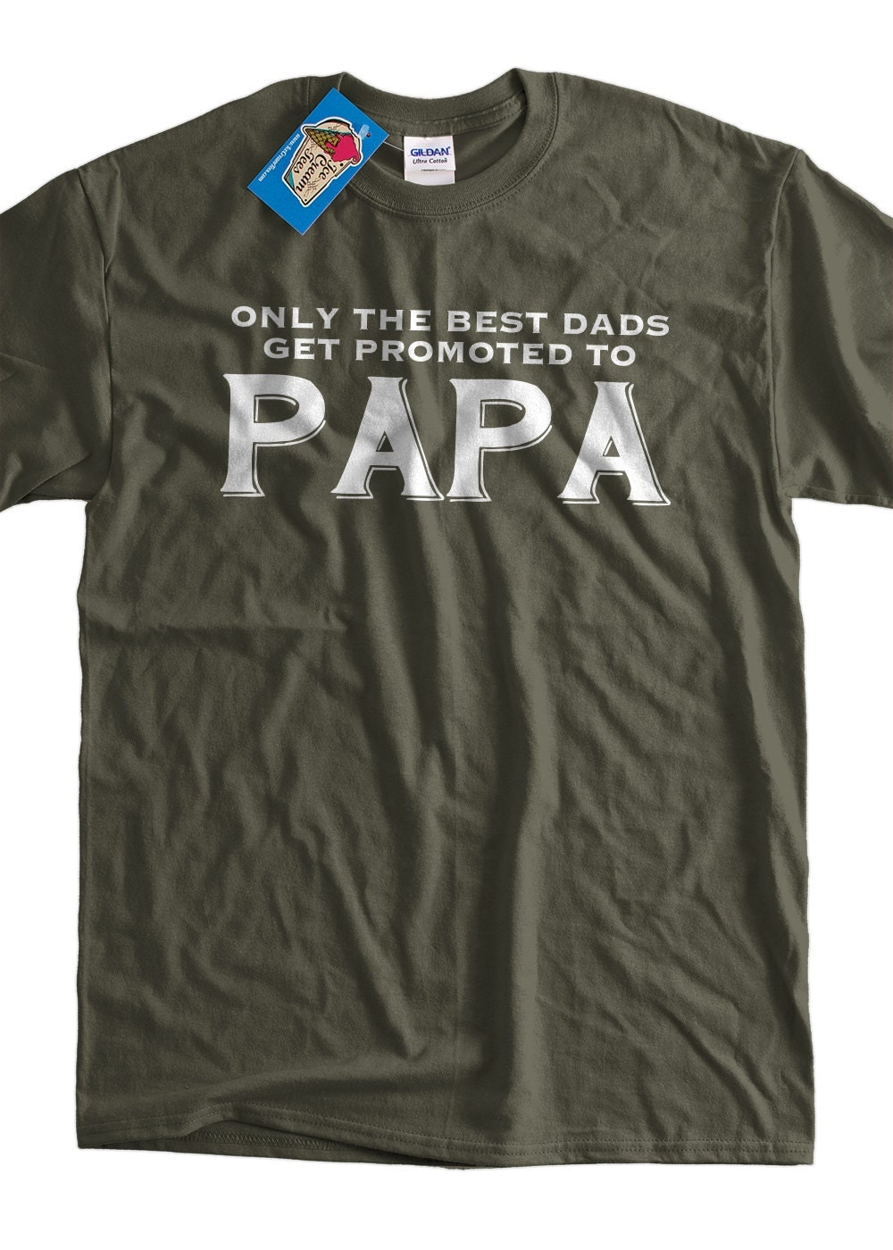 funny papa t shirt new baby only the best dads get promoted to. Black Bedroom Furniture Sets. Home Design Ideas