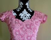 SAle Vintage Bali Dress // M // Scalloped Collar Dress // Ethnic Boho Tunic