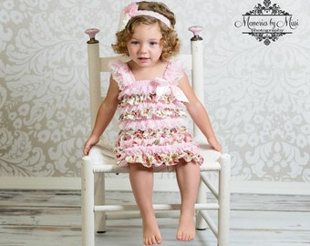 Clearance wedding flower girls,Vintage Pink Rose Lace Dress,ruffle dress,baby dress,girls dress,Birthday outfit,baby girls,flower girl dress