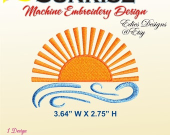 Small Sunrise Machine Embroidery Design Digital Download