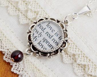 Robert Burns Love Poem Necklace