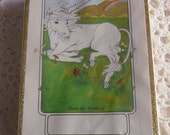 Unicorn Bookplates - Vintage Antioch Bookplates -  Sealed Box - Unicorn Gummed Labels