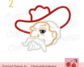 """Ole Miss Colonel  Embroidery Applique -4x4 5x5 6x6"""""""
