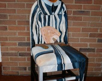 femme de picasso en rouge rehauss e chaise peint par lartiste. Black Bedroom Furniture Sets. Home Design Ideas