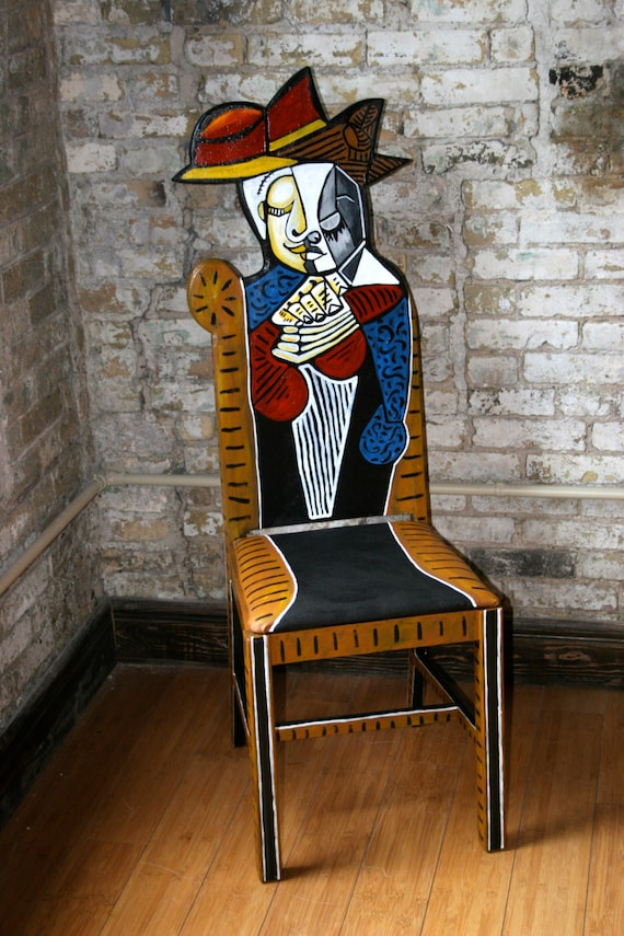 picasso chair tete dune femme lisant by fendosart on etsy picasso chair collage picasso chair restoration hardware