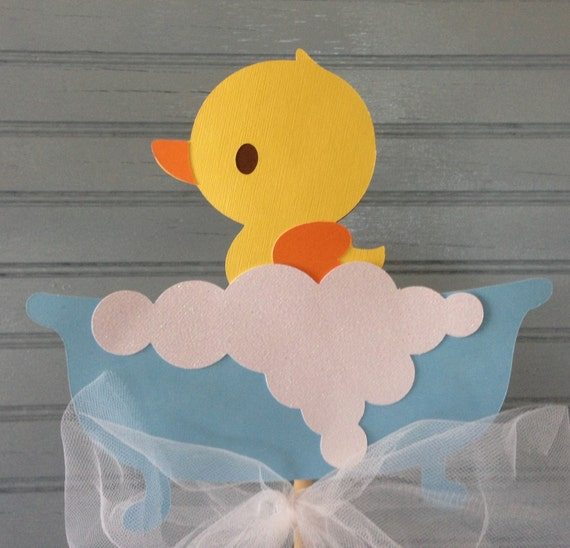rubber ducky baby shower centerpiece