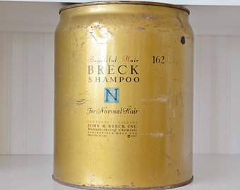 Vintage Breck Shampoo Tin Can from beauty salon 1957