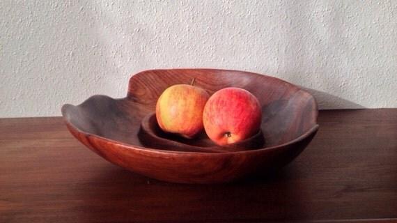 Bomba Handcarved Mahogany Bowl, Belize, Sustainably Harvested