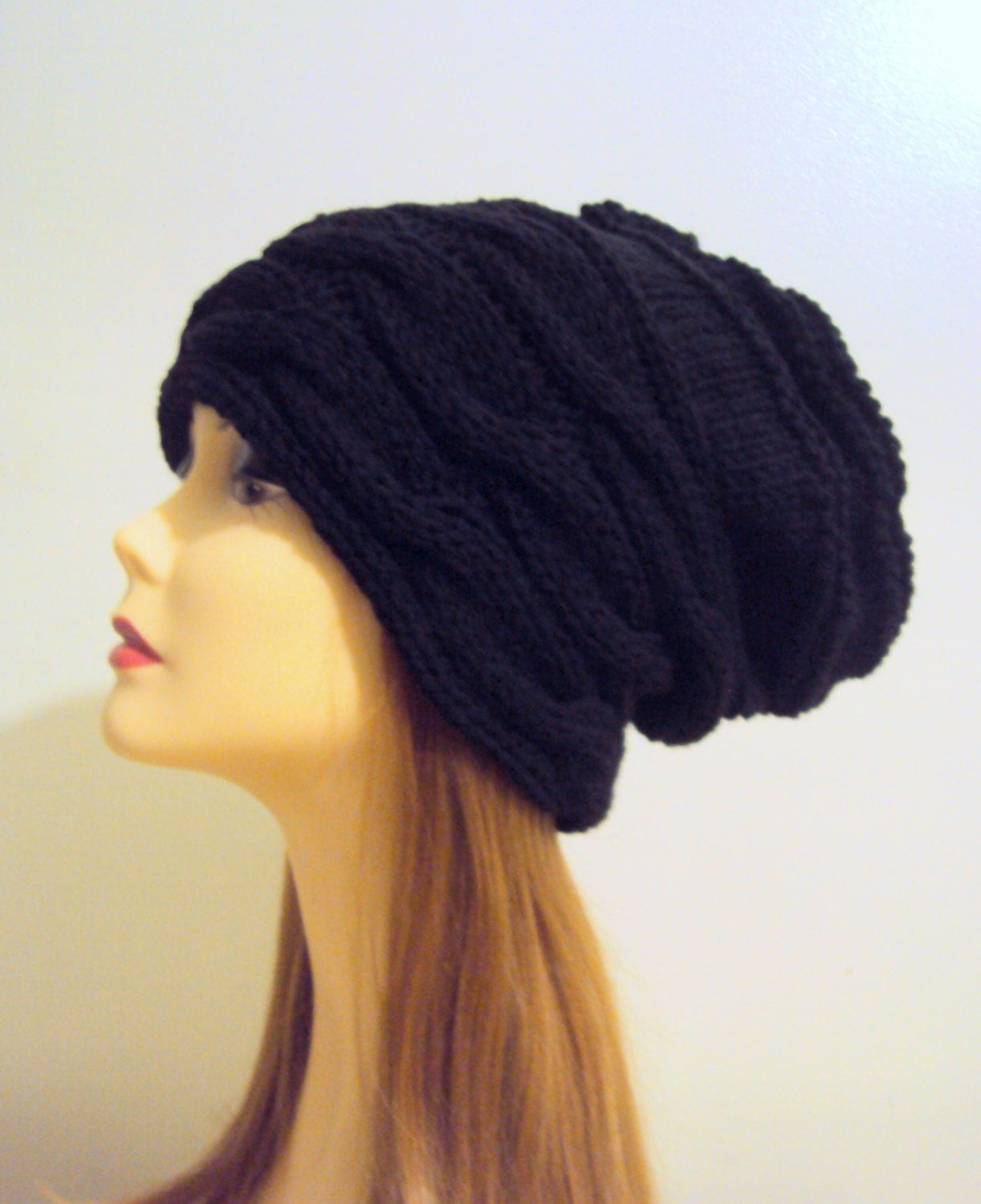Knit Baggy Hat Chunky Hat Knit Dreadlock Hat Oversized Super