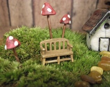 Miniature Bench For Your Terrarium Fairy garden- Terrarium Supplies from Gypsy Raku