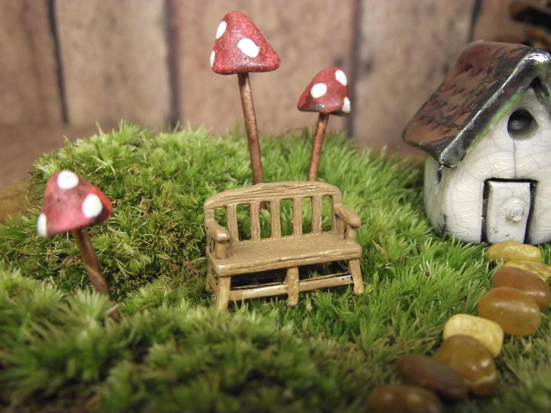Miniature Bench Fairy Garden Decor Terrarium Supplies