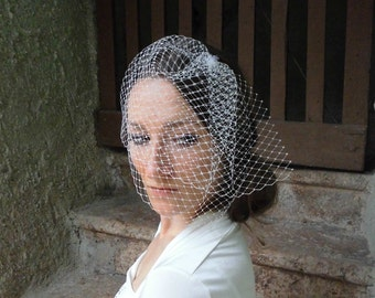 Double Layer Blusher Veil, Birdcage Veil, Asymmetrical Veil, Wedding Veil, Bridal Veil