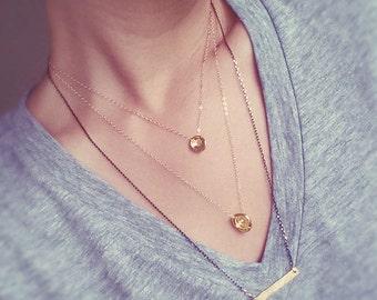 Tiny Gold Hawaiian Puka Shell Necklace