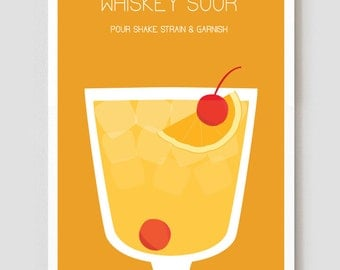"Whiskey Sour Art Print / Poster - 11"" x 17"""