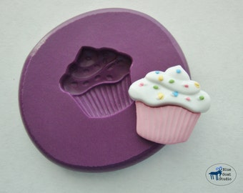 Cupcake Mold - Party Mold - Silicone Mold - Polymer Clay Resin Fondant