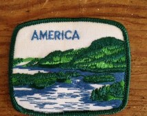 America Vintage Travel Patch by Voyager