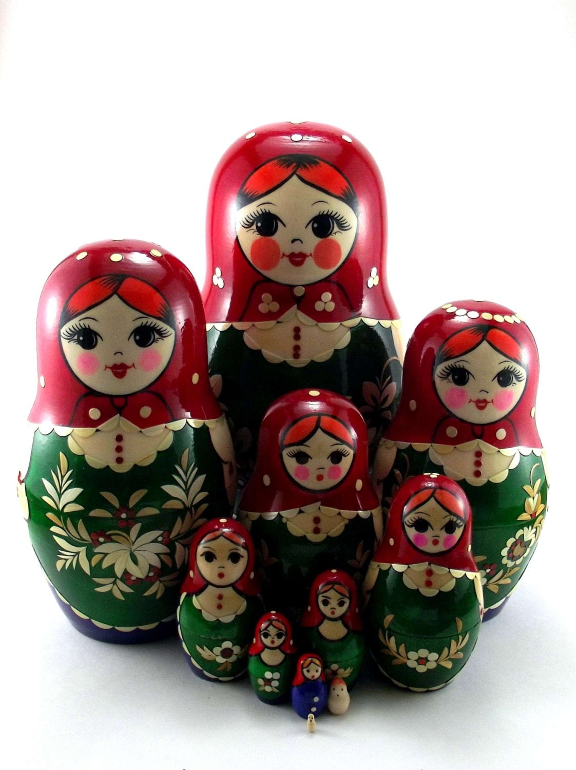 nesting dolls 11 pcs russian matryoshka doll babushka for kids