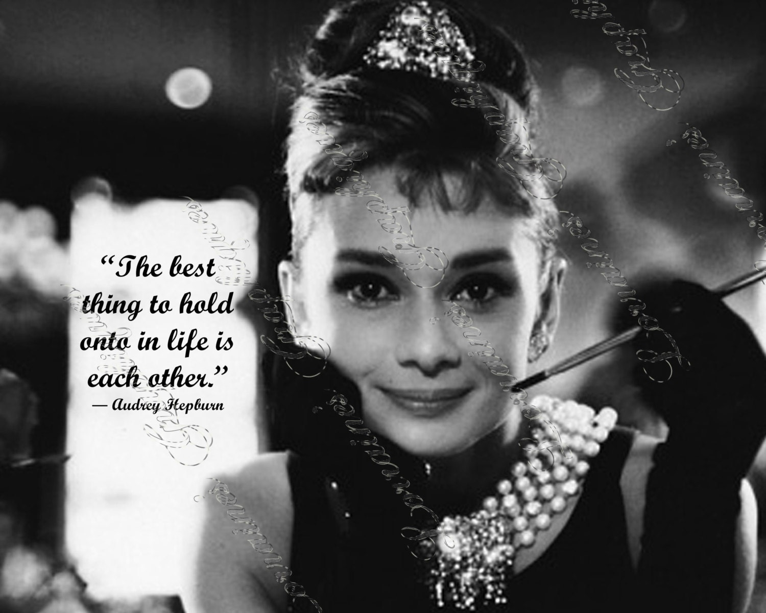 Audrey Hepburn Fine Art Print For The Breakfast At Tiffany Lover 7 Classic Hollywood Movie Home Decor Valentines Day Love Quote