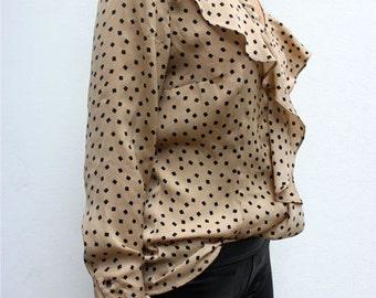 Losanges ruffled blouse