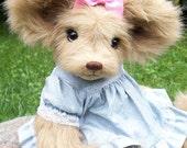 Artist bear, mouse, teddy bear, one of a kind, handmade, dressed bear, cute, mice