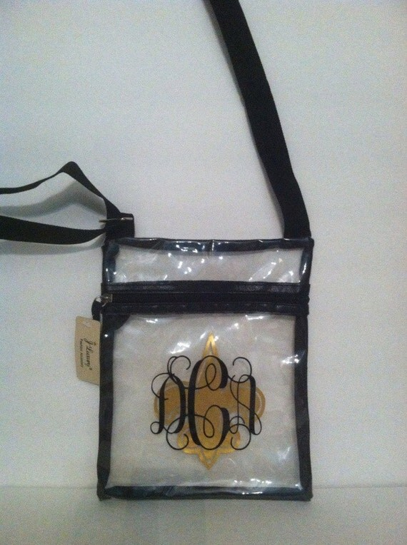 Clear Sling Cross Body Bag For Nfl Events