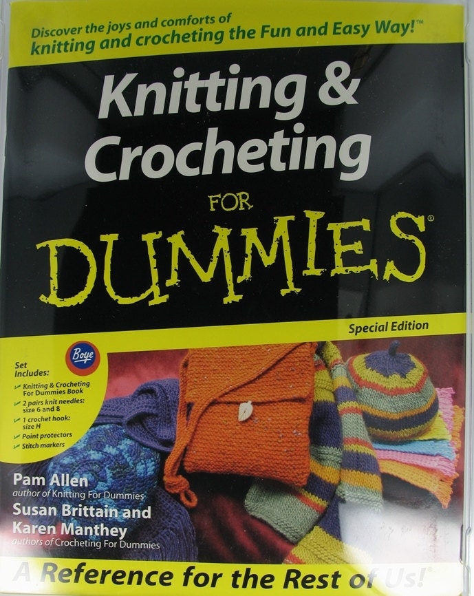 Knitting For Dummies Book : Boye book set special edition instructions knitting