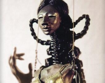 Flamenco Dancer Doll - Wire Marionette Sculpture