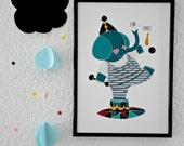 Circus Elephant Print
