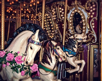 Carousel Image, Seattle Photo, Seattle waterfront, Merry Go Round Photo