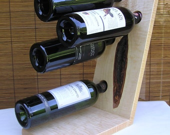Wine Rack - Curly Maple Hardwood