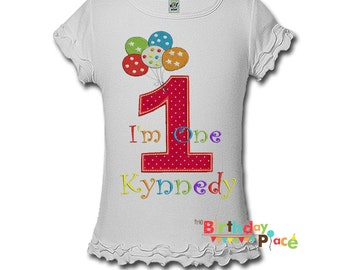 Birthday Balloons Birthday shirt- Any color scheme (3075)