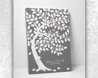 Guest Book Alternative - Unique Wedding Guest Book -75-100 Guests - Wrapped Canvas - 16x20,20x30 or 24x36 Inches