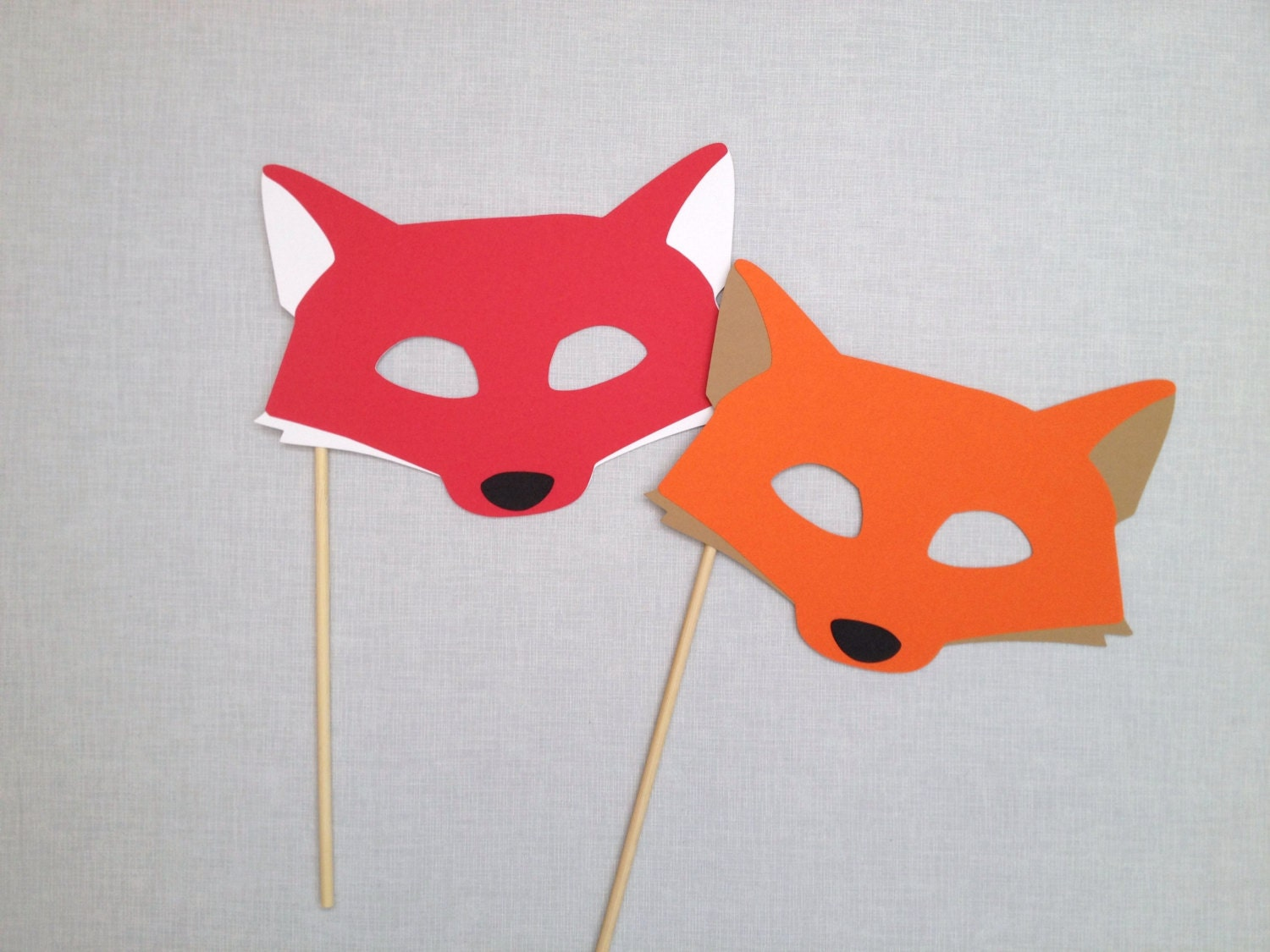 fox photo booth prop fox mask animal photo booth props. Black Bedroom Furniture Sets. Home Design Ideas
