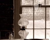 Old Oil Lamp At Fort Jackson, Savannah Georgia 5X7 - EarthAngelArtShop