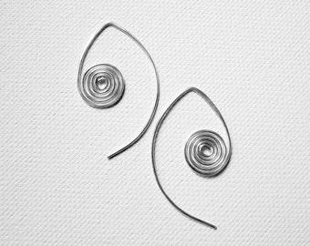 Swirl Hoop Earrings Sterling Silver Hoop Earrings Sterling Silver Jewelry Silver Swirl Hoops Gold Swirl Hoops Rose Gold Filled Earrings