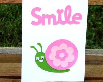 Blank Card with a Snail