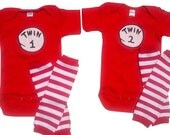 Twin 1 Twin 2 /Thing 1 Thing 2+ Leggings