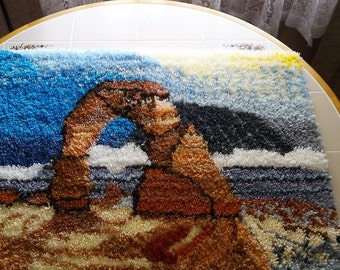 """Latch Hooked Rug """"Delicate Arch"""""""