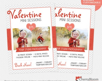 Valentine Mini Session Template for Photographers - MS13