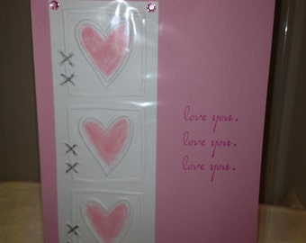 Love You Hearts Valentines Greeting Card
