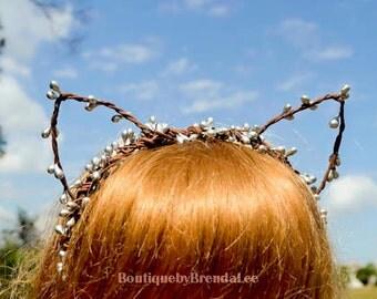 Silver Berry Cat Ears Headband