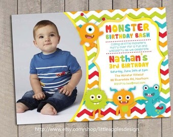 Monster Invitation / Monster Invite / Little Monster Invitation / Little Monster Invite / Little Monster Birthday / Little Monster Printabl