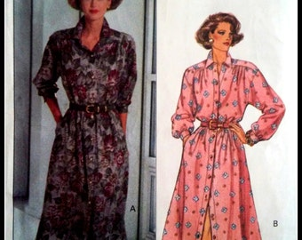 Butterick  6264  Misses' / Misses' Petite Dress with Three Quarter Or Full Length Sleeves  Size (14-16-18)  Uncut